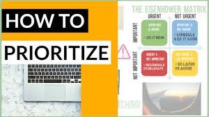 Prioritize Tasks